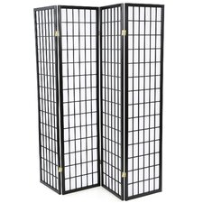 "70.25"" x 69"" Quincy Japanese Folding 4 Panel Room Divider"