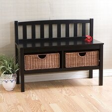 Hampton Storage Bench with Rattan Baskets