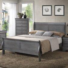 Louis Phillip Queen Sleigh Bed