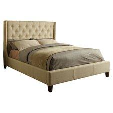 Upholstered Modern Wingback Bed
