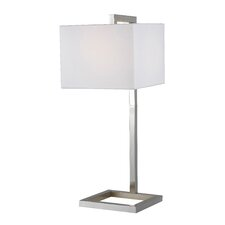 """4 Square 30"""" H Table Lamp with Square Shade"""