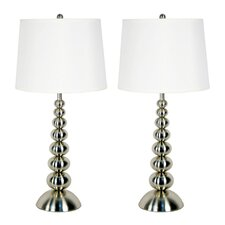 """Baubles 30"""" H Table Lamp with Empire Shade (Set of 2)"""