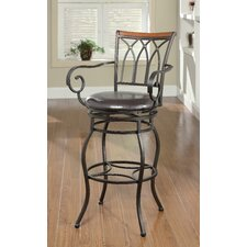 "Hackberry 29"" Swivel Bar Stool with Cushion"