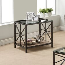 Weathered Grey End Table