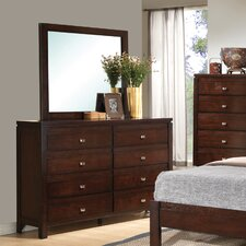 Cameron 8 Drawer Dresser with Mirror