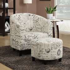 Barrel Chair and Ottoman