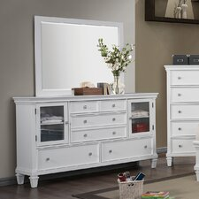 5 Drawer Combo Dresser with Mirror