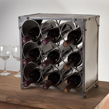 Caswell 9 Bottle Tabletop Wine Rack
