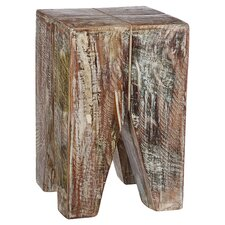 Stripped Wood End Table