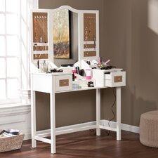 Monterey Vanity Desk with Mirror & Jewelry Storage