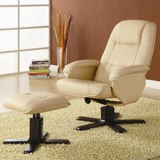 Stanton Leisure Vinyl Chair & Ottoman Set