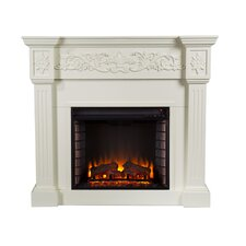 Oakley Electric Fireplace in Ivory