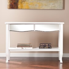 Marcel White Mirrored Console/Sofa Table