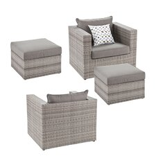 Bennett 4 Piece Deep Seating Group with Cushions