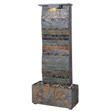 Curvature Slate Tabletop/Wall Fountain