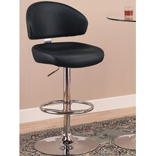 Colorado City Adjustable Height Swivel Bar Stool with Cushion