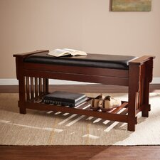 Whittington Mission Upholstered Storage Entryway Bench
