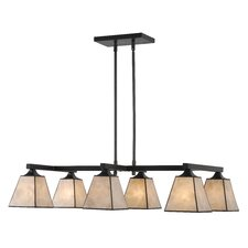 Capella 6 Light Kitchen Island Pendant