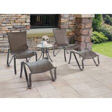 Wicker 5 Piece Lounge Seating Group