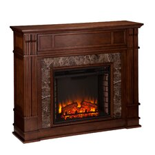 Fleming Faux Stone Electric Fireplace