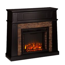 Shaffer Faux Stone Electric Fireplace