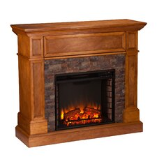 Thornton Faux Stone Convertible Electric Fireplace