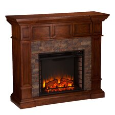 Frazier Simulated Stone Convertible Electric Fireplace