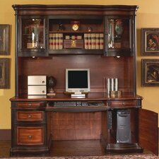 Corona Computer Desk with Hutch