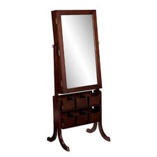 Nealy Jewelry Armoire with Mirror