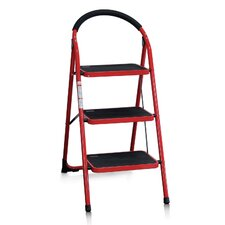 3-Step Steel Folding Step Stool with 200 lb. Load Capacity