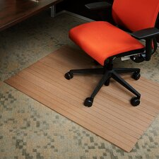 Low Pile and Hardwood Composite Office Chair Mat