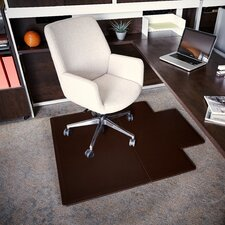 Executive Leather Chair Mat with Lip