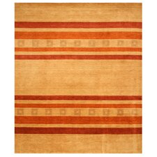Anthia Hand-woven Beige/Red Area Rug