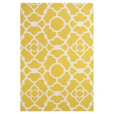 Yellow / White Area Rug