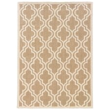 Hand-Hooked Brown/Ivory Area Rug