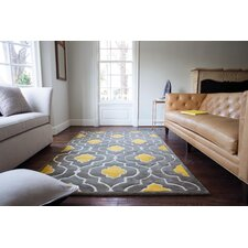 Hand-Tufted Gray/Gold Area Rug