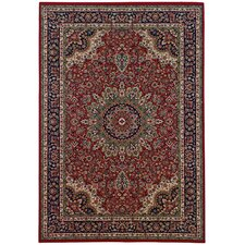 Brighton Traditional Red/Blue Area Rug