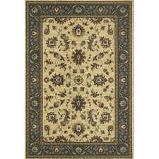 Brighton Traditional Ivory/Blue Area Rug