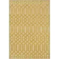 Nicolette Hand-Crafted Wool Lattice Beige/Gold Area Rug