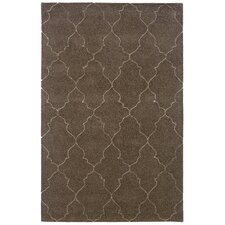 Lucca Hand-Crafted Wool Lattice Grey/Beige Area Rug