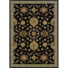 Cantebury Wool Traditional Black /Blue Area Rug