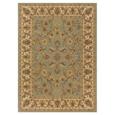Cantebury Wool Traditional Blue/Ivory Area Rug