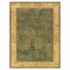 Aragon Hand-Crafted Wool Floral Grey/Beige Area Rug