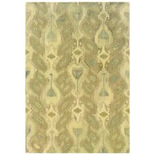 Adeline Hand-Crafted Wool Ikat Ivory/Beige Area Rug