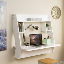 Studio Floating Desk with Hutch