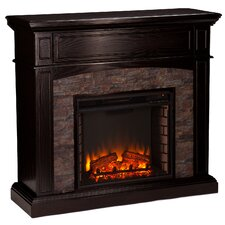 Bolton Faux Stone Corner Electric Fireplace