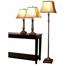 Froste 26.25'' H 3 Piece Table Lamp Set with Bell Shade