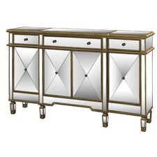 3 Drawer Mirrored Console Table