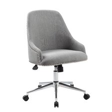Carnegie Adjustable Mid-Back Office Chair in Grey