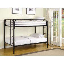 Framington Twin Bunk Bed with Built-In Ladder